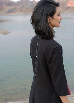 Salwar Kameez Simple, Black Salwar Kameez, Churidar, Collar Kurti Design, Kurta Neck Design, Simple Kurti Designs, Kurta Designs Women, Dress Neck Designs, Designs For Dresses