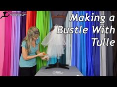 Making a Bustle With Tulle - YouTube