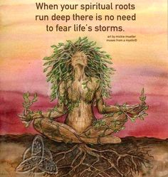 Your Spiritual Roots are your connection to a Higher Consciousness.  How you describe it is not important!  Knowing, Accepting this Truth is your Divine Strength.  Lightbeingmessages.com