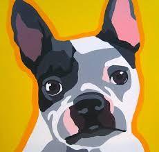 Resultado de imagen para perros bulldog francés para pintar al óleo