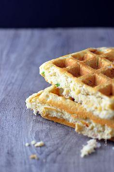 Cornbread Waffles Recipe from addapinch.com