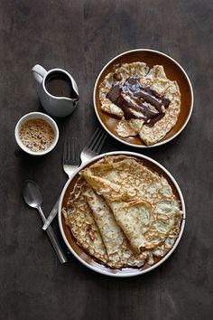 Crepes with Chocolate and Coffee. Aisha Yusaf Photography