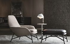 Prince chair and footstool by Minotti