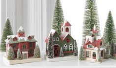 Putz House Pattern | offers several paper board putz houses for Christmas decorating