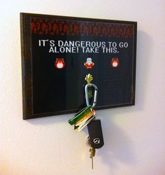 Video Game Key Hanger by PraticalGeek on Etsy