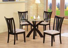 Amazon.com - Coaster Home Furnishings 101071 Casual Dining Table Base, Deep Merlot Finish - Tables