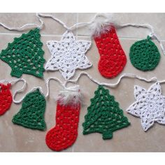 Christmas needs trees, stars, stockings, baubles and bells – so put them together in some bunting to decorate your home! The 5 bunting designs are based on traditional granny stitches, so are quite quick to make. Make them in seasonal colours and leave them plain (which is how I like them), or decorate with buttons and beads, or other 'trinkets', spray with glitter spray or use lurex yarn in them. You can use any weight of yarn, but I chose mainly 4ply and dk. Each piece takes up to about…
