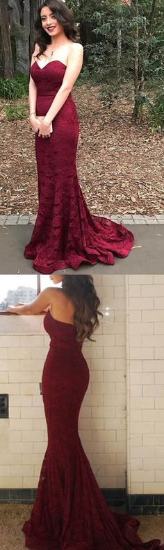 lace burgundy prom dresses, mermaid lace prom dresses for women, cheap prom dresses 2017, prom dresses with sweetheart, high quality prom dresses 2017, dresses for women
