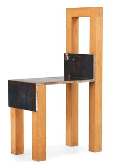 Jonas Bohlin; Oak and Iron 'Sto' Chair, 1990 #design #pin_it @mundodascasas See more here: www.mundodascasas.com.br