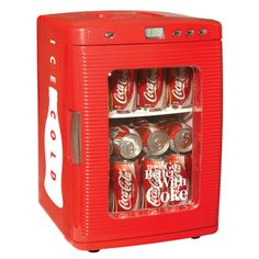 Coca-Cola Mini Fridge // for those who can't get enough of their Coke...I need this..my family knows the 11th commandment..Thou shall not take the last cold coke!!