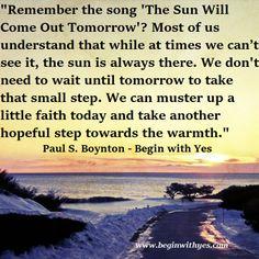 Paul S. Boynton #BeginWithYes www.facebook.com/beginwithyes #quotes