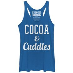 CHIN UP Women's - Cocoa and Cuddles Racerback Tank