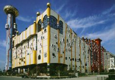 Austrian artist Hundertwasser helped design the Maishima Incineration Plant in Osaka, Japan.