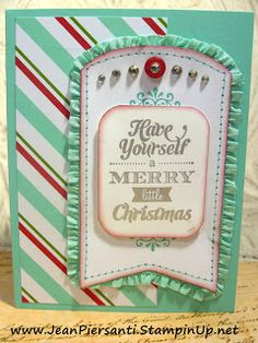 Beauty and the Stamper - Jean Piersanti - Independent Stampin' Up! Demonstrator: Have yourself a Merry Litle Christmas | Stampin' Up! Bundle...