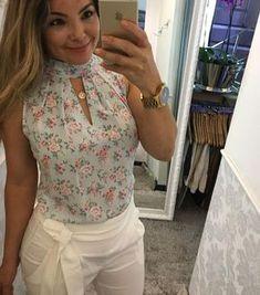 """1,037 curtidas, 15 comentários - DOCE FLOR ( #doceflorsp) no Instagram: """"{Lançamento} Mais um look lindo da querida #camybaganha de blusa com pregas + short com faixa! """""""