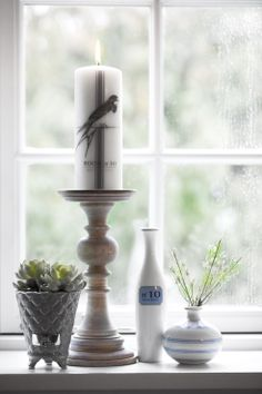 BLUE MOOD vases, PRECIOUS FLOWER POT, DARLA candlestick and BLUE MOOD candle. Lene Bjerre, spring 2014.