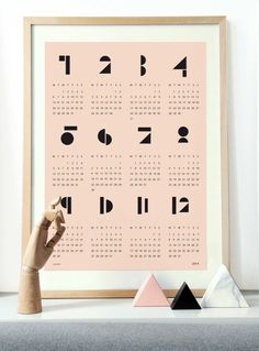 snug.calendar 2014, available in white and soft pink