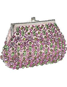 adorable!    Evening Silk Purse with Swarovski Crystals