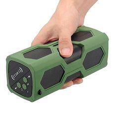 Rocktech Waterproof Sport Speaker, Portable Wireless Speaker, Bluetooth Speakers 4.0 Built-in Mic 3600mah Rechargeable Battery 12 Playing Hours