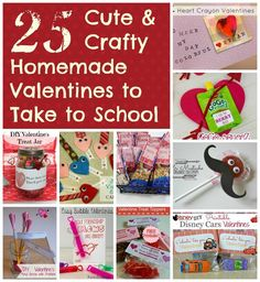 25+ Cute and Crafty Homemade Valentines to Make w/ Your Kids