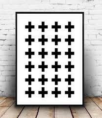 Minimalist art print Cross art print Swiss cross by Wallzilla Toddler Art Projects, Cool Art Projects, Black And White Prints, White Art, Black White, Minimalist Poster, Minimalist Art, Art Scandinave, Art Minimaliste