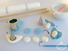 Binky Baby ~ Fondant Pacifier Tutorial - Lynlees