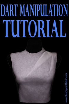Learn dart manipulation basics and transform your basic bodice pattern into several different styles by dart rotation, style lines etc. Dart Manipulation, Manipulation Techniques, Sewing Lessons, Sewing Hacks, Sewing Tutorials, Sewing Tips, Dress Tutorials, Pattern Drafting Tutorials, Sewing Basics