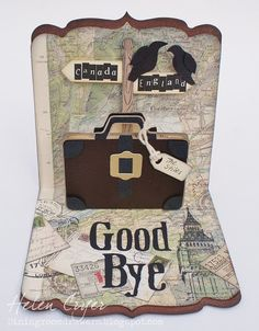 The Dining Room Drawers: Pop 'n Cuts 3-D Suitcase 'Good Bye' Card