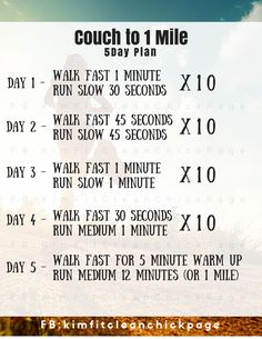 Expect to be able to run 1 mile by the end of the week! Is it possible?  I'll have to try it out. http://shop.nanorunner.com