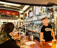 America's Best Beer Bars: The Pine Box  A direct draw draft system (short, cleaner lines) dispenses 33 rotating options including at least one cask ale, plus the world's only built-in Randall, variously filled with local hops or spices like chiles, cilantro, and lime.