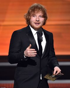 Thinking Out Loud: Ed Sheeran wins Song Of The Year at the Grammys on Monday night...