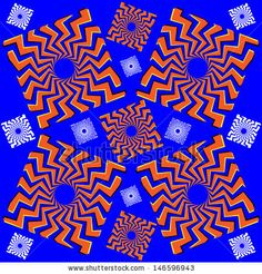 Zigzag Squares by Mark Grenier, via ShutterStock  optical illusion,art,illustration,motion,illusion,squares,zigzag,fun, novelty,
