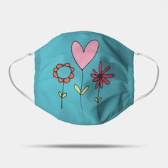 Mask Painting, Painted Clothes, Mask For Kids, Easy Drawings, Drawstring Backpack, Hand Painted, Simple, Spring, Floral