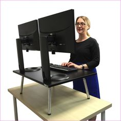 Frank Standesk Memory Office Furniture Triple Monitor In Many Styles Desks