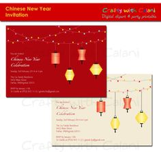 items similar to printable chinese party invitation customized invitation asian holiday party invitation chinese lantern design on etsy