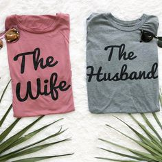 The collection for those Married AF, or those about to be! Disney Bound Outfits, Couple Outfits, Best Wedding Destinations, Destination Wedding, Disney Inspired Fashion, Disney Fashion, Dog Mom Shirt, Wedding Shirts, Wedding Honeymoons
