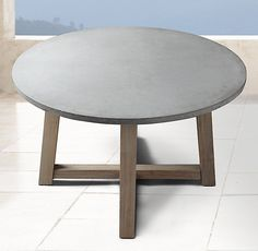 toni reclaimed teak round outdoor dining table wingspread