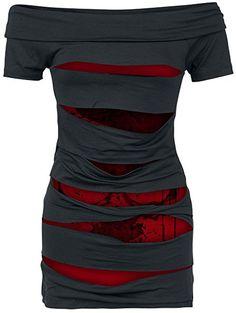 0e7aa6e151ea Alchemy England Splash Skull Girl-Shirt schwarz S Damen Mode, Hosen,  Kleidung,