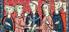 A marriage ceremony, from a 13th-century French manuscript (© The Art Gallery Collection/Alamy) pic.twitter.com/xNQY2d7VIu