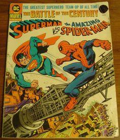 1976 DC and Marvel present: Superman vs. the Amazing Spiderman supersized comic