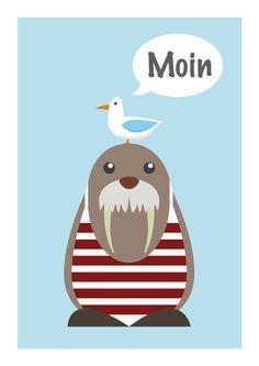 Drucke & Plakate - Kinderzimmer Poster - Poster maritim - Poster witzig - Poster für das Kinderzimmer - Poster Sprüche - Poster Wörter - Babyzimmer Deko - Kinderzimmerbilder