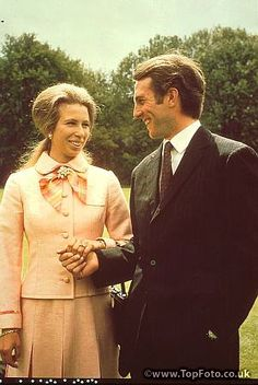 The engagment of Princess Anne and Captain Mark Philips1973