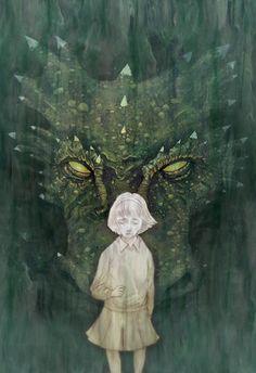 Michael Morris - Narnia - Lucy and Eustace Michael Morris, Pet Monsters, Dark Fairytale, Dragon Girl, Dragon's Lair, Magic Forest, Children's Book Illustration, Book Illustrations, Grim Reaper