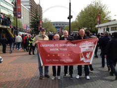 @Liverpool FC A few Texas Reds on Wembley Way!