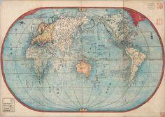 ephemera assemblyman: Japanese Historical World Maps