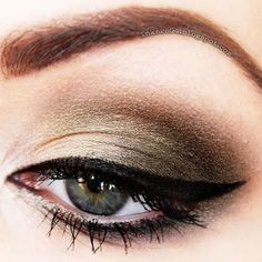 Add a sexy smokey to your cat eye for a look that's sure to turn heads.