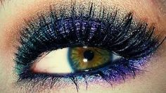 Peacock Fantasy ♥ Eyes Tutorial, via YouTube.