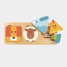 Puzzle animaux 3 niveaux - Djeco