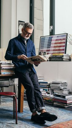 We asked our men's designer Frank to demonstrate how to nail the double-denim look. Read more on jcrew.com/blog.