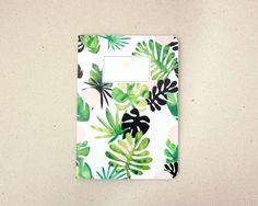 Tropical Notebook / carnet motif tropical / A5 / fabriqué à la main / handmade - Hirundo Shop